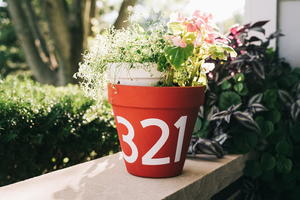 House Number DIY Planter Idea