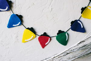 Adorable Felt Lights Christmas Craft