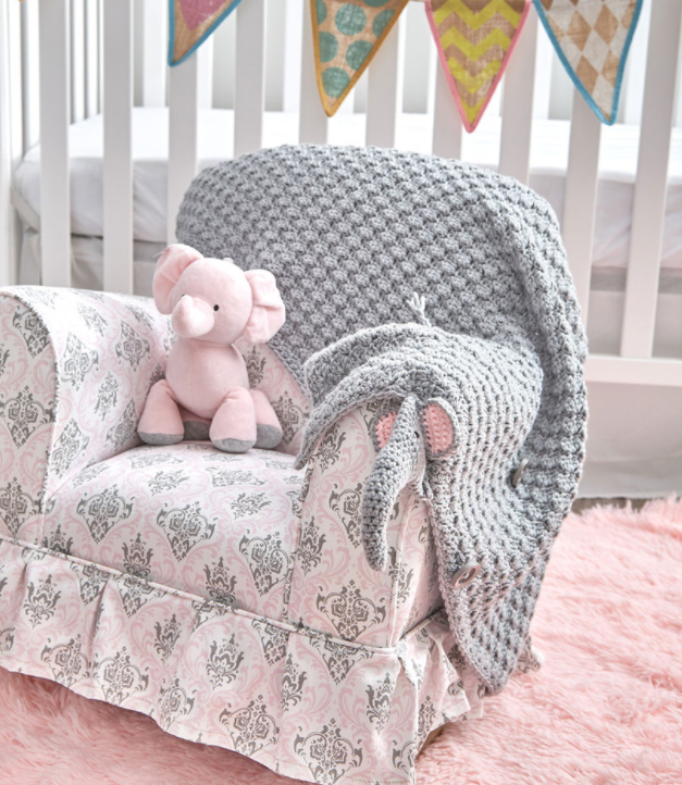Adorable Elephant Folding Baby Blanket Is Sure To Delight Your ... | 722x627