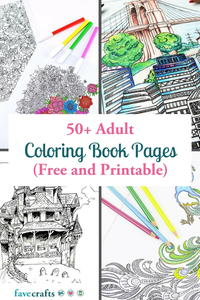 50+ Adult Coloring Book Pages