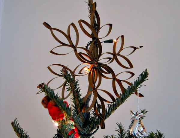 Upcycled Cardboard Tree Topper