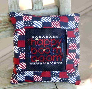 Boom Boom Patriotic Pillow