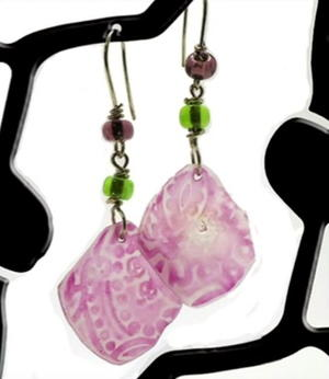 How to Make Shrink Plastic Look of Beach Glass Earrings