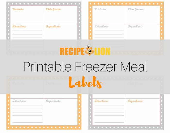 photo regarding Printable Freezer Labels named Printable Freezer Evening meal Labels