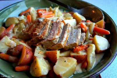 Creamy Garlic Pot Roast