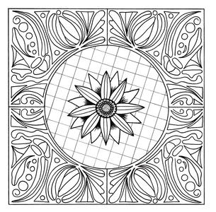 Floral Mandala Adult Coloring Page
