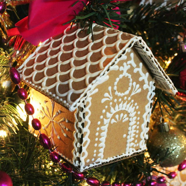 Brilliant Easy Gingerbread House Ornaments Allfreeholidaycrafts Com Download Free Architecture Designs Rallybritishbridgeorg