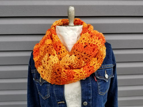 Autumn Sunrise Infinity Scarf