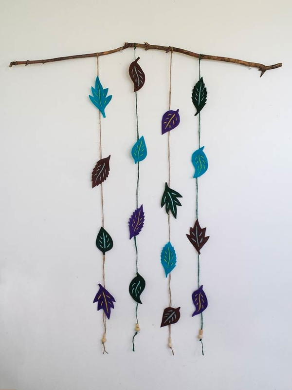 Felt Leaves Wall Decor