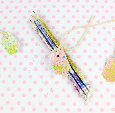 Colored Glitter Pencils!