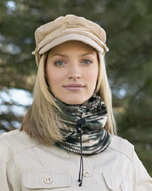 Easy Camouflage Neckwarmer Knitting Pattern