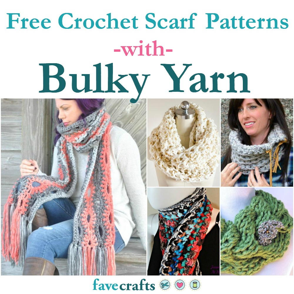 29 Free Crochet Scarf Patterns Using Bulky Yarn Favecrafts Com