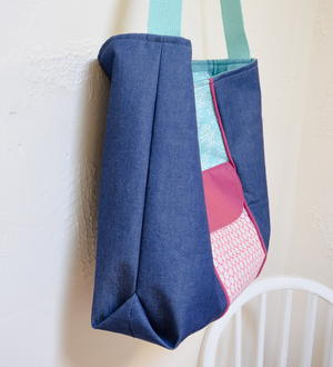 Large Recessed Zipper Tote Bag