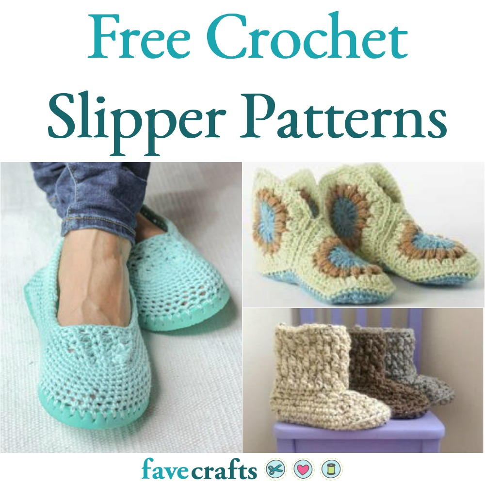 33c19a92c61dc 22 Free Crochet Slipper Patterns | FaveCrafts.com