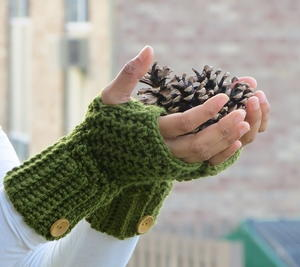 Brooklyn Crochet Fingerless Gloves