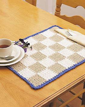 Easy Checkerboard Placemat
