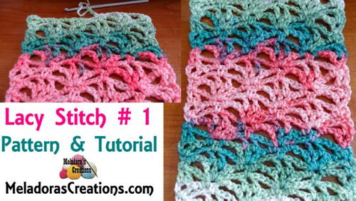 Crochet Lacy Stitch 1