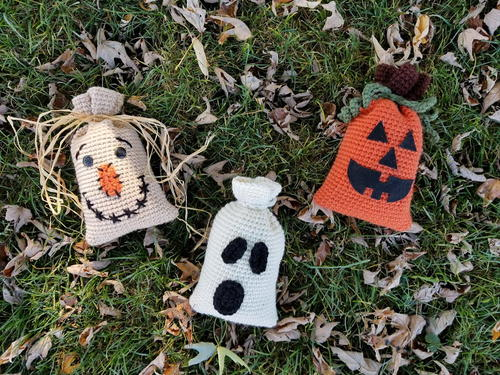 Crochet Halloween Bag Trio