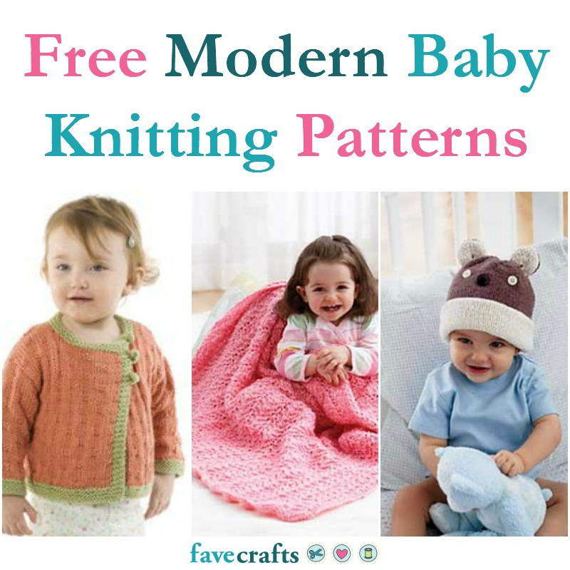 1ce95e7d7 17 Free Modern Baby Knitting Patterns