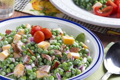 Easy Peasy Pea Salad