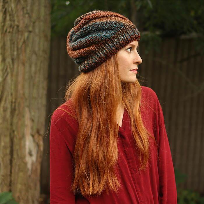 6cb31b05db3 Flat Knit Swirl Hat