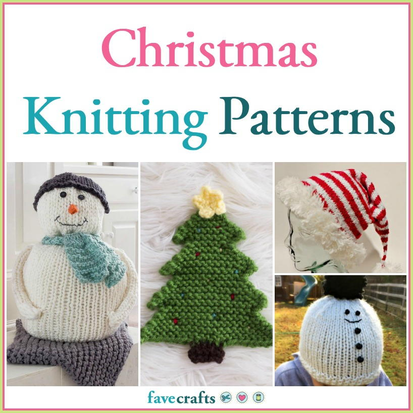 Knitting pattern for Christmas Garland Wreath