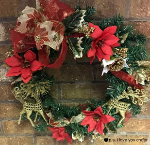 Dollar Store Christmas Wreath
