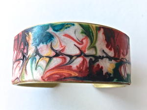 Liquid Clay And Alcohol Ink Bracelet