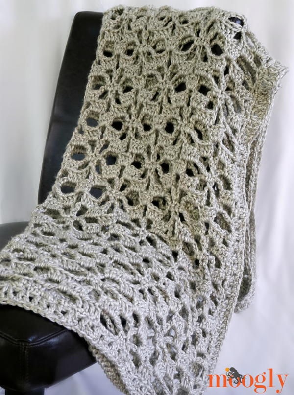 Snowflake Lace Throw