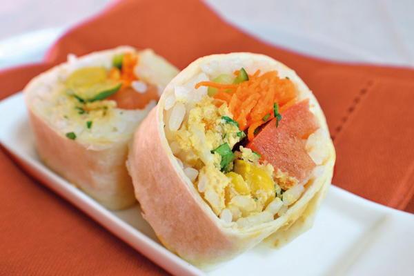 Falafel Tortilla Rolls
