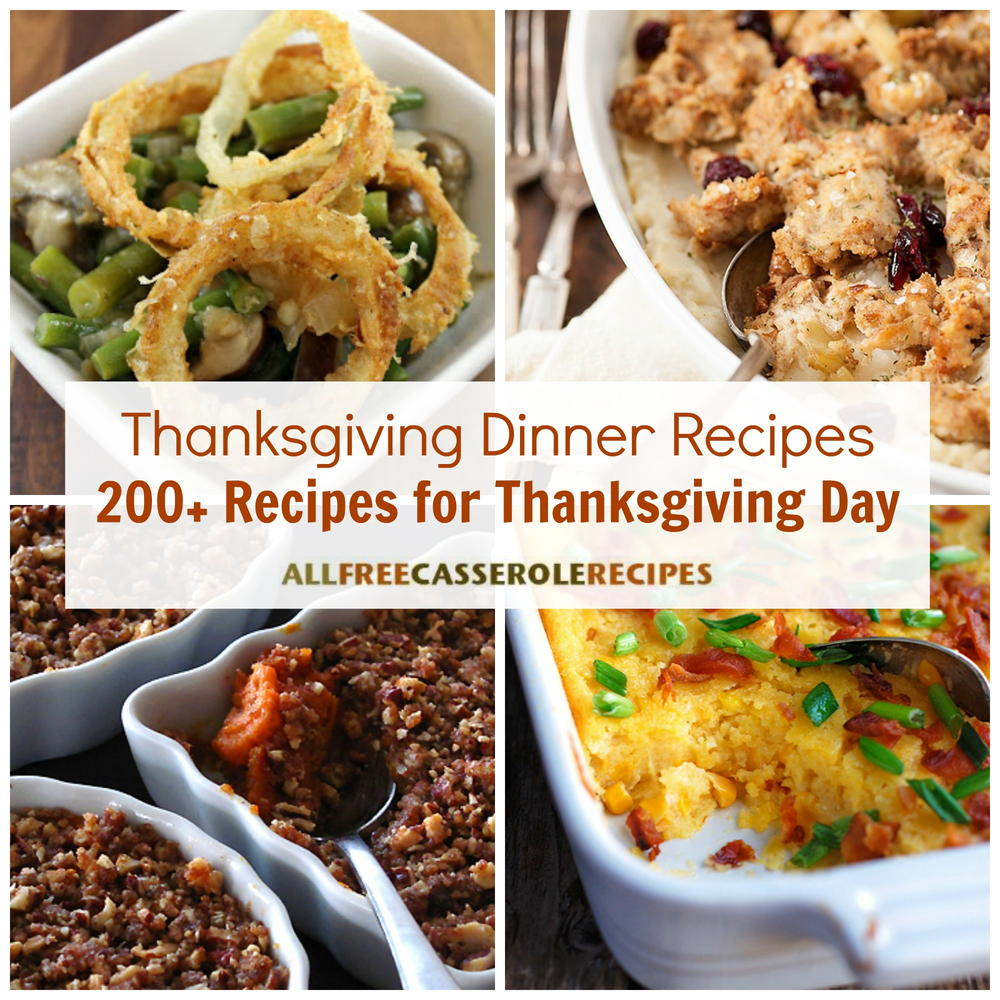 Thanksgiving Dinner Recipes 200 Recipes For Thanksgiving Day