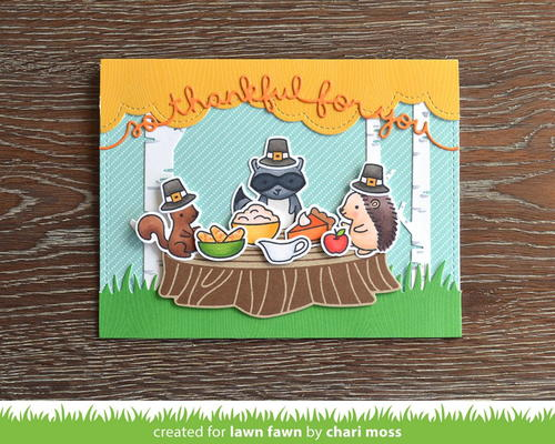 Adorable Woodland Feast Card