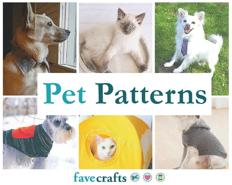4000b8bef47 39 Patterns for Pet Clothing and More Pet Crafts | FaveCrafts.com
