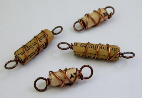 Wire Wrapped Paper Beads