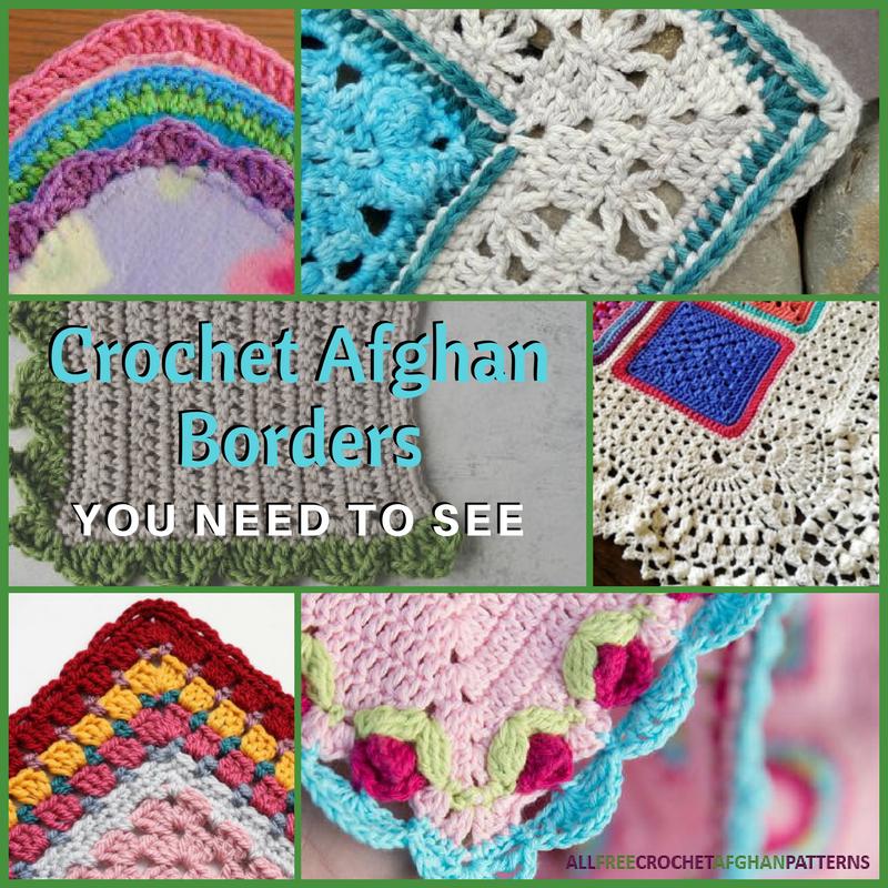 21 Crochet Afghan Borders You Need To See