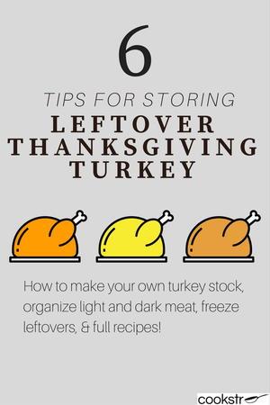 6 Tips for Storing Leftover Thanksgiving Turkey