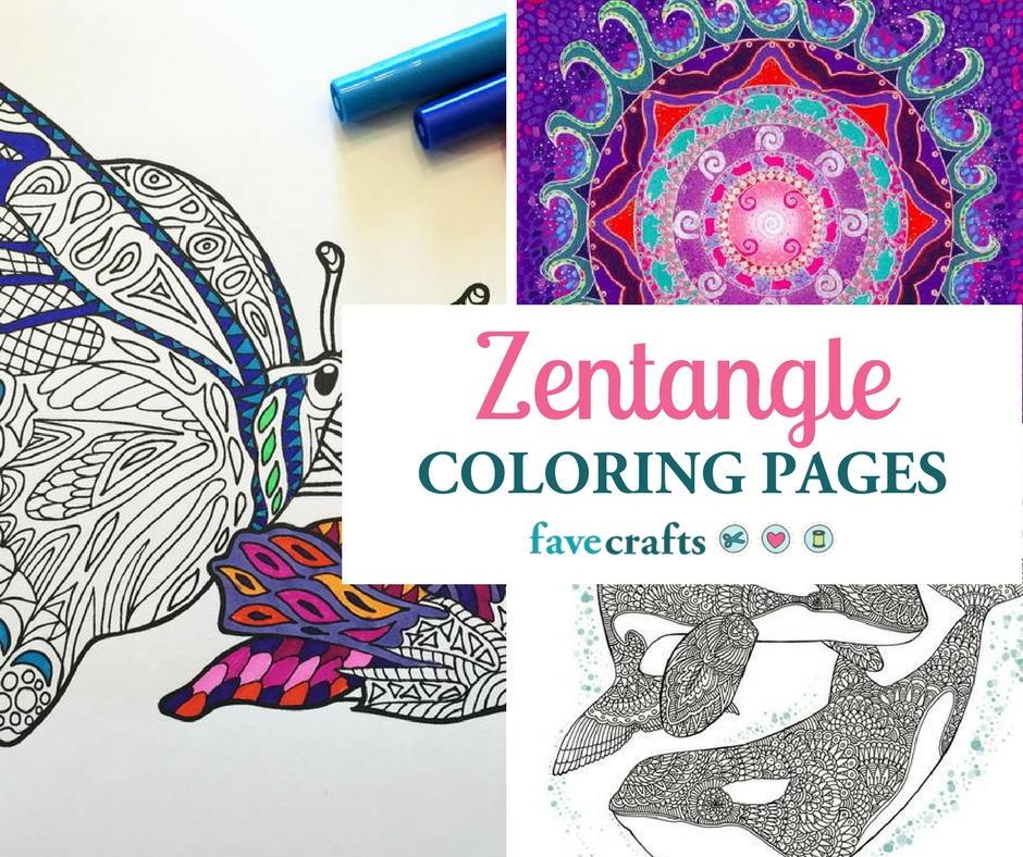 - 16 Zentangle Coloring Pages FaveCrafts.com