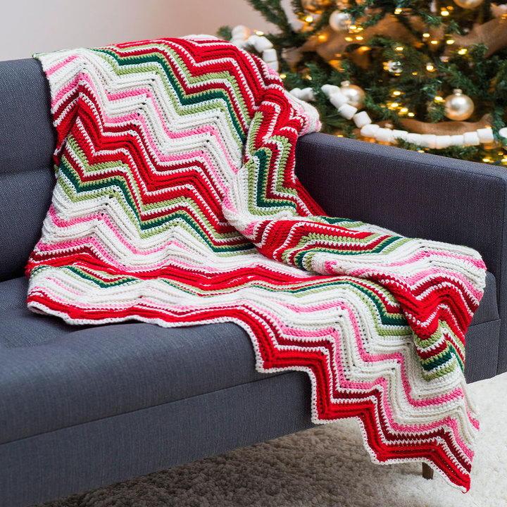 Ripples of Joy Christmas Afghan Crochet Pattern ...