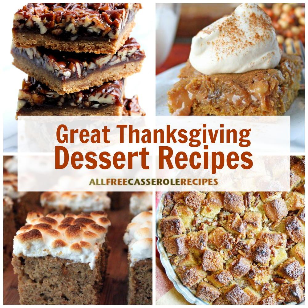 18 Great Thanksgiving Dessert Recipes