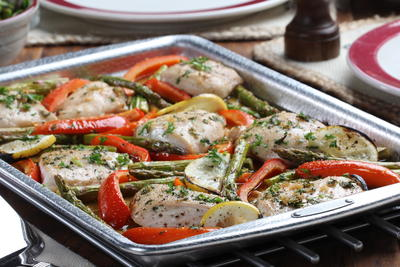 Sweet and Citrusy Sheet Pan Supper
