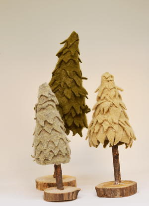 Repurposed Sweater Christmas Trees