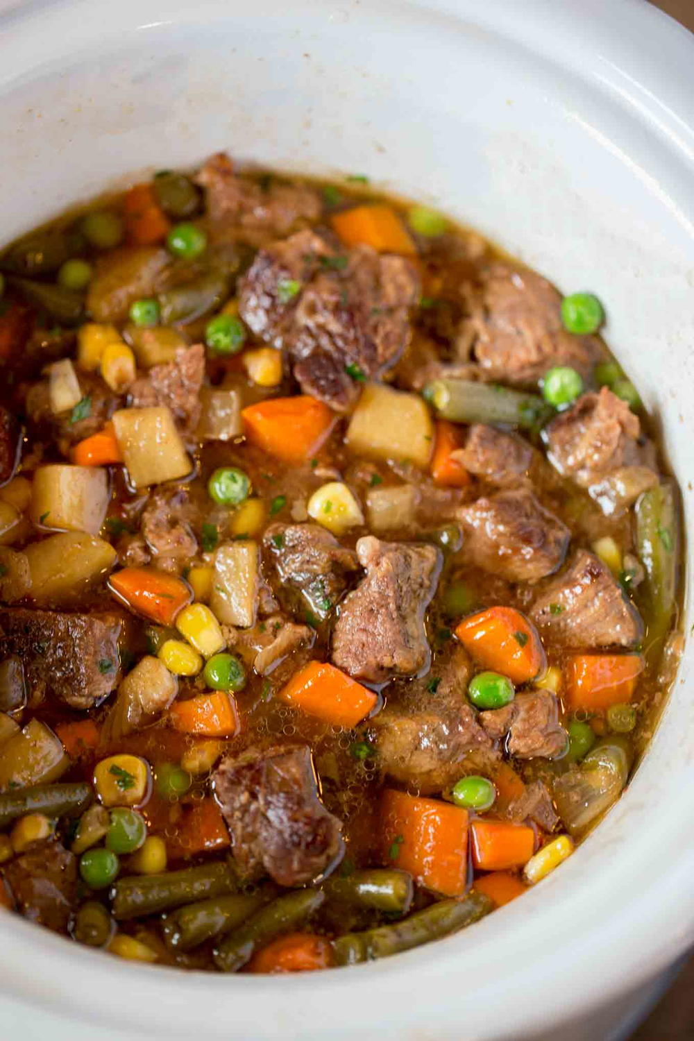 Slow Cooker Vegetable Beef Soup Recipelion Com