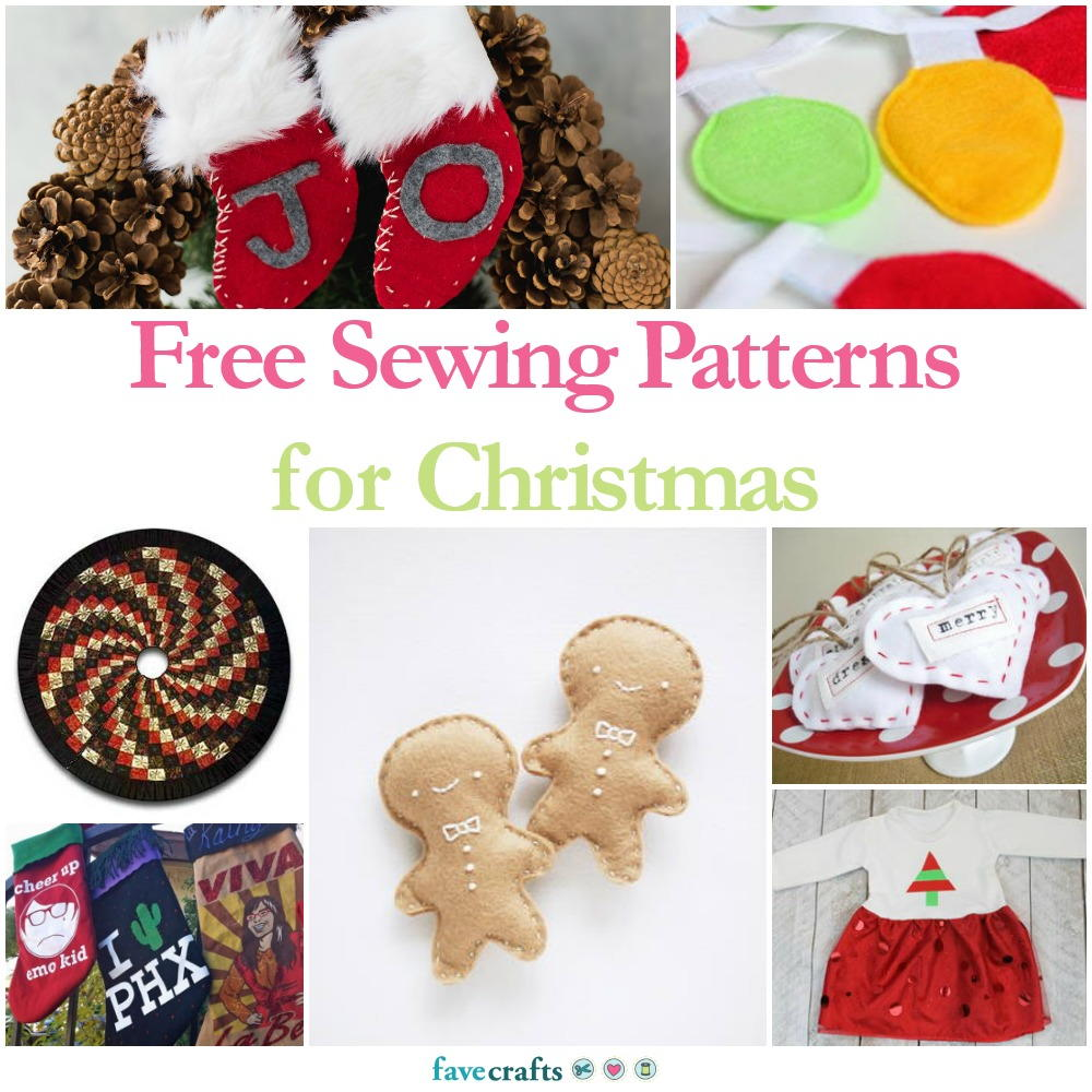 36 Free Sewing Patterns For Christmas Favecrafts Com