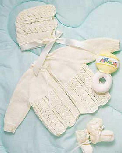 Baby Layette Knitting Pattern   FaveCrafts com