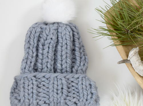 Quick Pretty Chunky Knit Hat