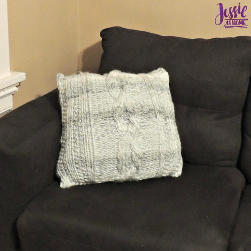 Giant Cabled Knit Pillow