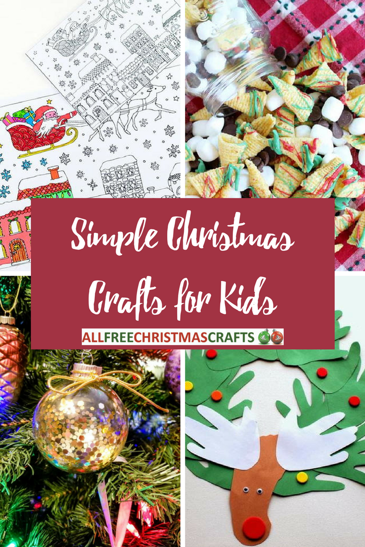 Simple Christmas Crafts.20 Simple Christmas Crafts For Kids