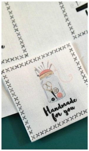 photo relating to Printable Fabric Labels called Printable Do-it-yourself Material Labels