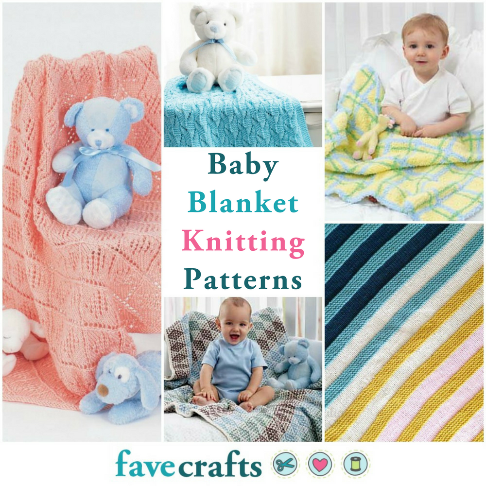 19 Free Baby Blanket Knitting Patterns Favecrafts Com