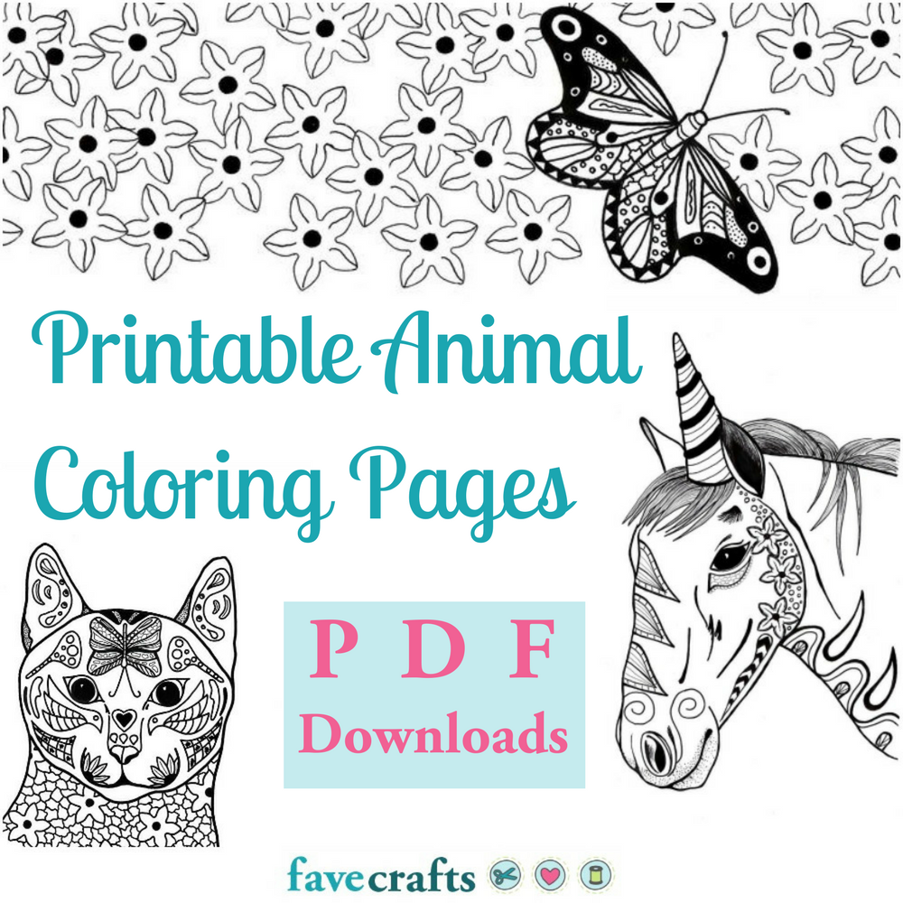 - 37 Printable Animal Coloring Pages (PDF Downloads) FaveCrafts.com
